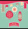 Abstract Christmas card vector image