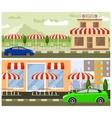 Roadside cafe flat design vector image