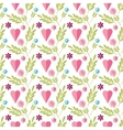 Cute flat background pattern with flowers vector image