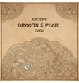 dragon parchment card vector image