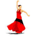 al 0908 flamenco vector image