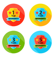 Warranty Flat Circle Icons Set 2 with Shadow vector image vector image