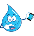 Waterdrop cartoon vector image vector image