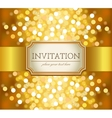Golden invitation vector image vector image