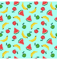 Seamless background with different pixel fruits vector image