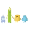 pencil and stationery children vector image
