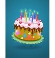 birthday cake with burning vector image