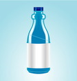 blue bottle vector image