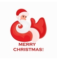 Cartoon Santa Claus that shows thumb up on a white vector image