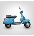 Cool blue scooter vector image