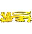 English Lion vector image