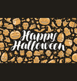 happy halloween greeting card or banner holiday vector image
