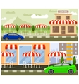 Roadside cafe flat design vector image