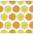 seamless pattern with lemon and orange slices vector image