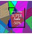 Super Sale Banner Design on creative background vector image