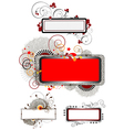 Collection banners with decor of the texture vector image vector image