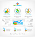 travel infographic vector image vector image