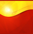 Abstract red yellow orange design template vector image vector image