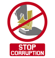 stop corruption sign vector image vector image