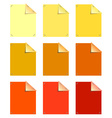 Color sticky notes vector image