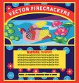 firecracker label vector image
