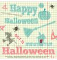 halloween card sketch vector image