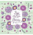 summer flowers birthday vector image vector image