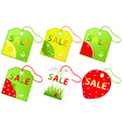 retail sale labels vector image