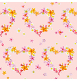 Tropical Hearts Flowers Backgrounds vector image