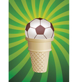 soccer fan icecream vector image vector image