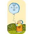 little boy balloon vector image vector image