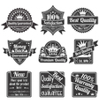 Best Quality and Guarantee Labels vector image vector image