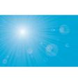 sunburst sun flares vector image