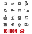 grey coffee icon set vector image
