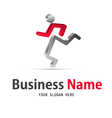 human icon logo vector image vector image