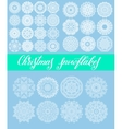 christmas snowflake decoration set isolated on vector image