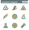 Icons line set premium quality of biochemistry vector image