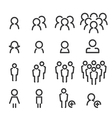 people line icon set vector image