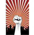 Power fist vector image