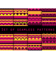 Set the texture seamless in ethnic style vector image