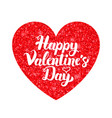 white red valentine day vector image