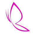 pink butterfly outline vector image