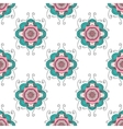 Abstract seamless with floral ornament vector image