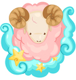 Zodiac signs - Aries vector image