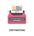 copywriting icon concept vector image