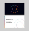 business-card-letter-o vector image vector image