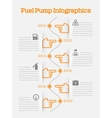 Auto gasoline service time line infographics vector image