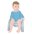 baby on the pot vector image