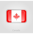 Canada flag button vector image