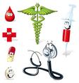 medical symbols vector image